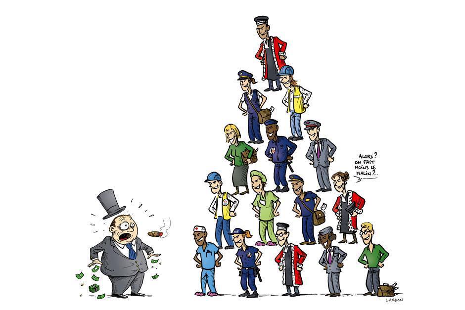 Contre l'austérité ! … Pour les services publics ! … <br> <h2>Soutien aux salariés de la fonction publique !</h2>